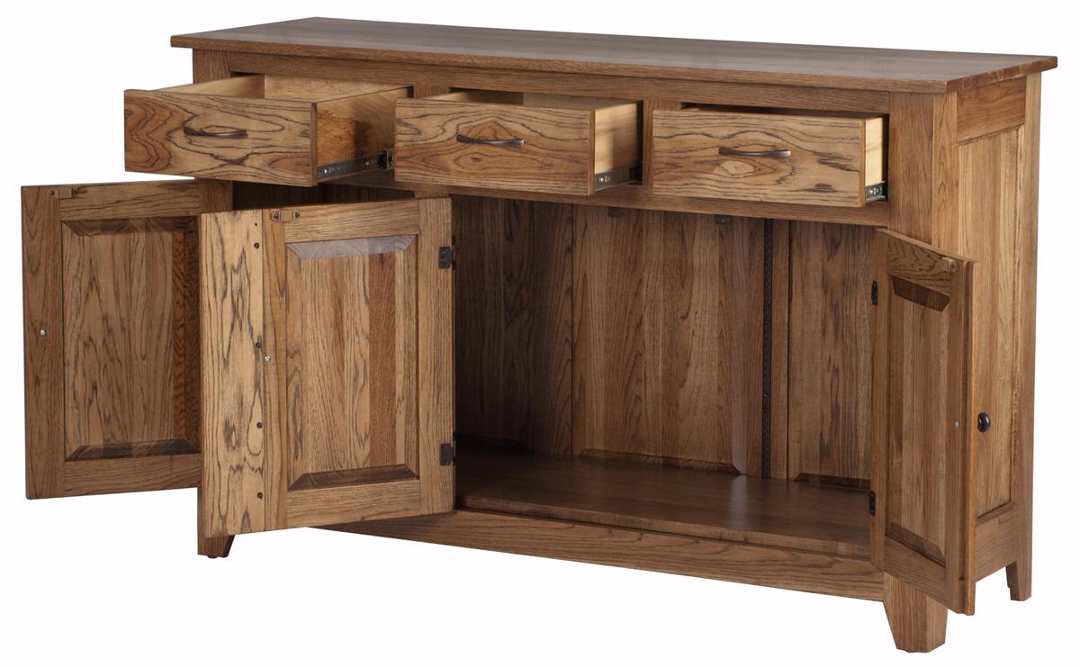 Modern shaker furniture - 36 High X 62 Wide X 20 Deep Modern Shaker Kitchen Buffet In Natural Cherry