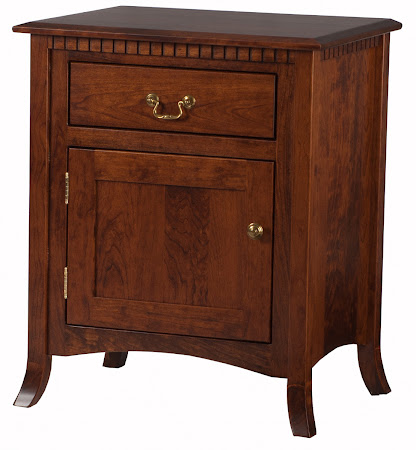 Matching Furniture Piece: Lisbon Nightstand with Door in Antique Cherry