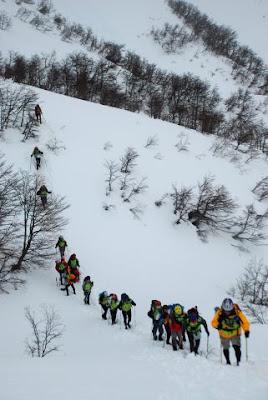 subiendo hacia el cerro Belvedere