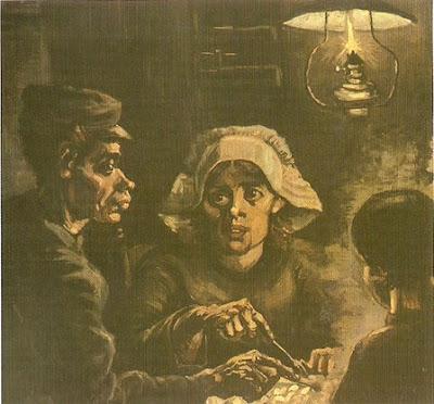 Vicente Van Gogh: Detalle de los comedores de patatas (1885) La obra ...