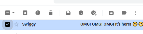 Delete Emails in Gmail on a Web Browser