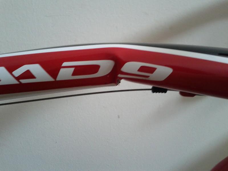 Bent CAAD9-4 frame closeup