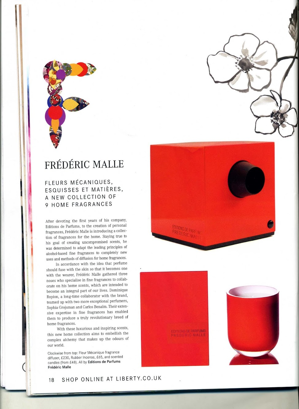 Frederic Malle [New Collection of 9 Home Fragrances]