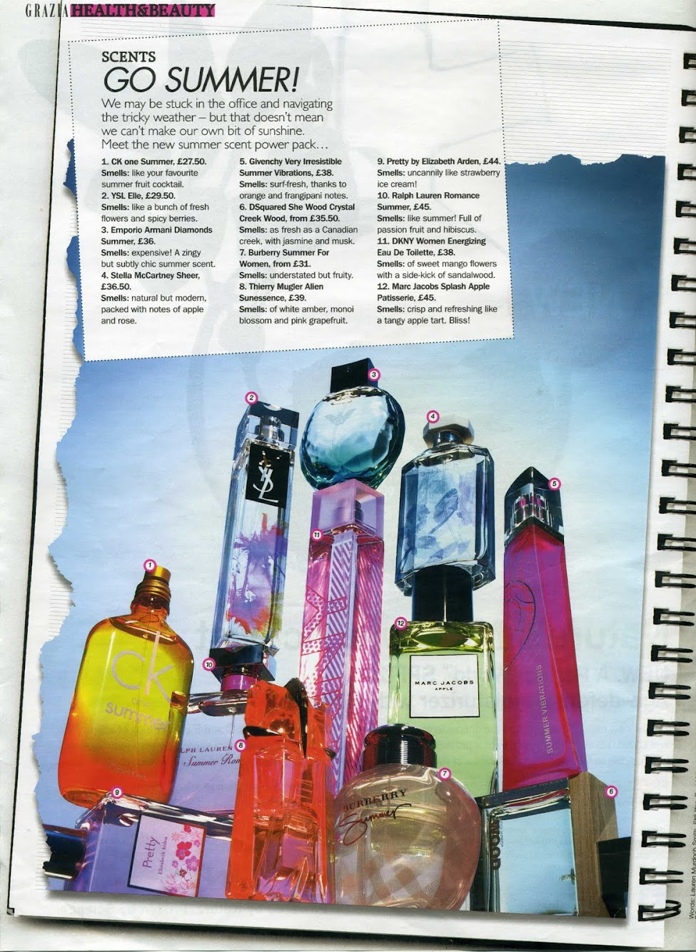 Summer Fragrances from Grazia Magazine