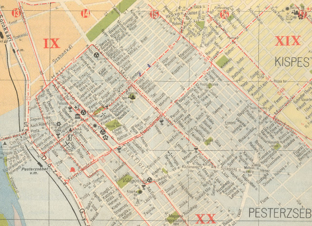 budapest térkép pesterzsébet PESTERZSÉBETI ÉRDEKES: Pesterzsébet 1958 térkép és BKV (1.r.) budapest térkép pesterzsébet