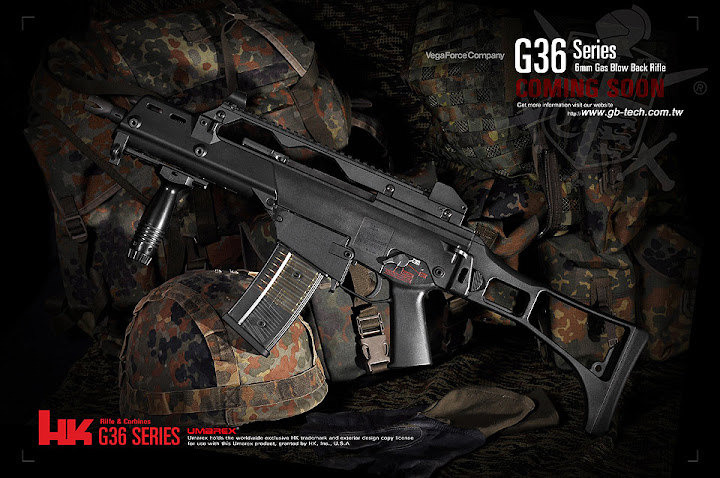 Umarex USA, Airsoft Shot Show 2011 News, VFC G36 Gas Blowback Rifle, Vega Force Company G36 GBBR, Airsoft Gas Blowback Rifle, Airsoft GBBR, Pyramyd Air, Pyramyd Airsoft Blog, Airsoft Obsessed, Airsoft Blog,