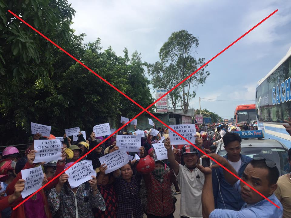 giáo dân bị kích động biểu tình gây rối trên Quốc Lộ 1A