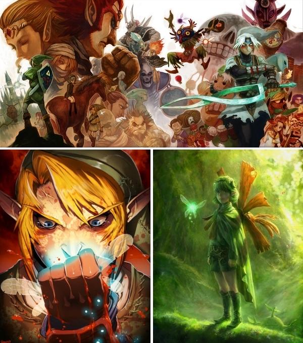25 Years of Zelda em uma imagem incrível