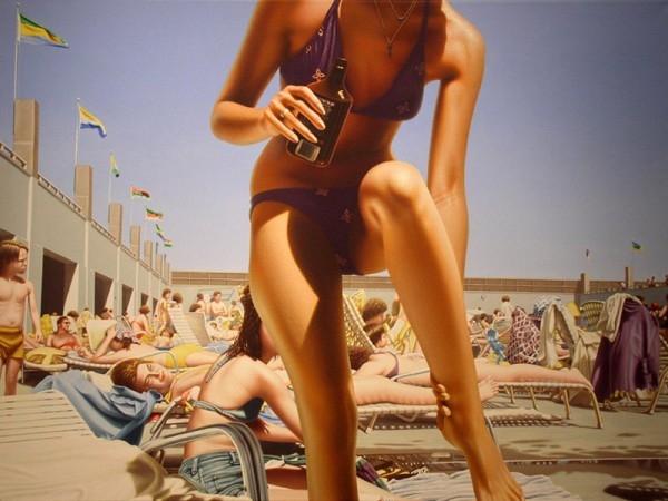 Hiper realistas Praia Pinturas Bebê