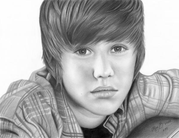 Impressionante Justin Bieber retratos
