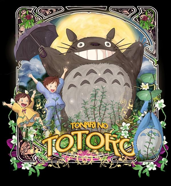 Totoro Art Nouveau