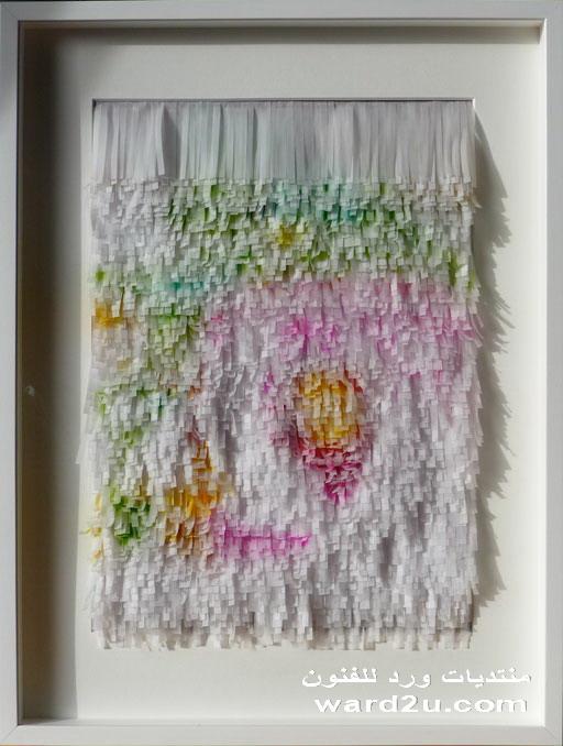 الرسم بشرائح الورق الملون ابداع الفنانه Megan Coyle
