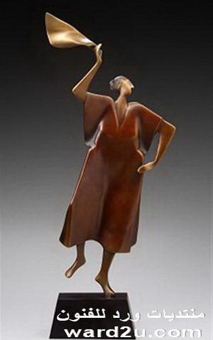 مشاعر انسانيه وتماثيل من برونز carol gold