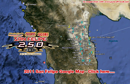 Baja 250 Race course 2011