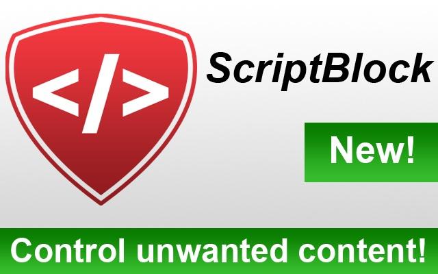 ScriptBlock chrome extension