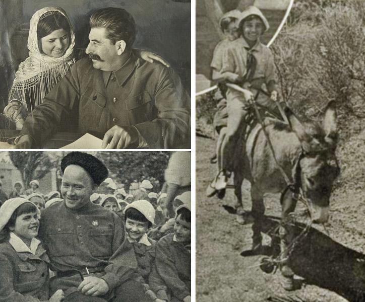 Мамлакат с Вождем, писатель Гайдар с артековцами и злополучный ослик