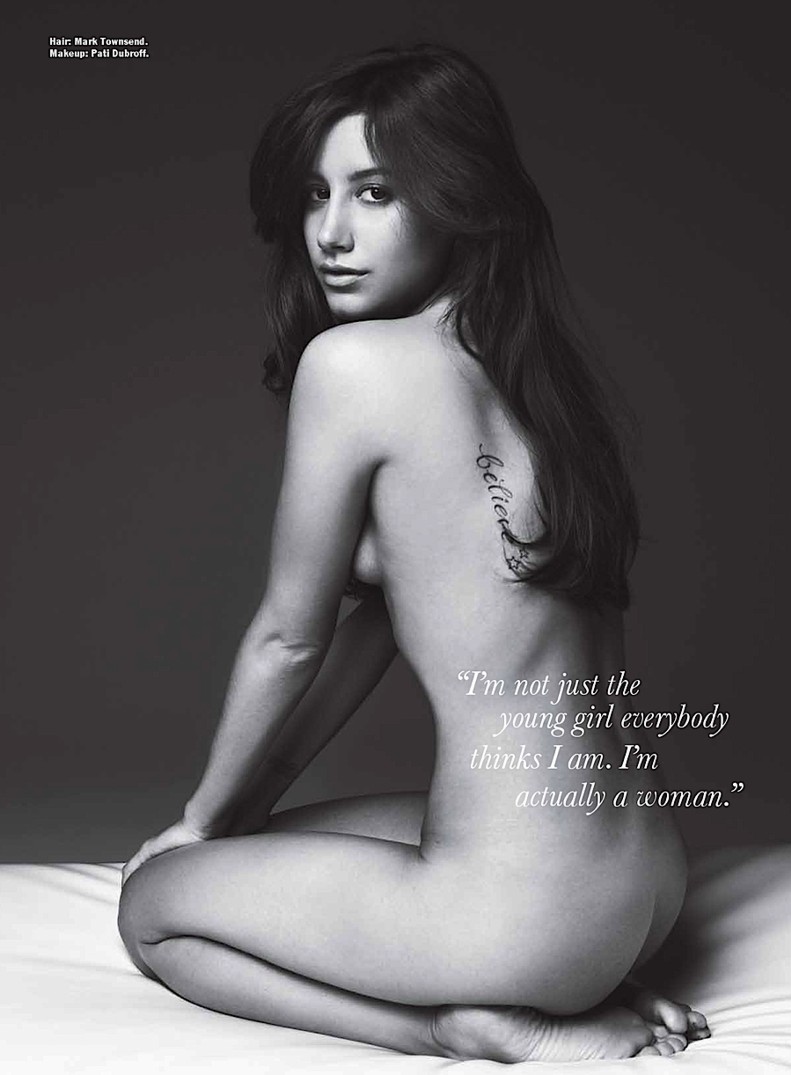 ashley tisdale desnuda en revista allure