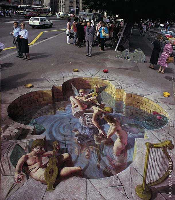 3D Sidewalk Chalk Art: 4 Of The World's Most Talented