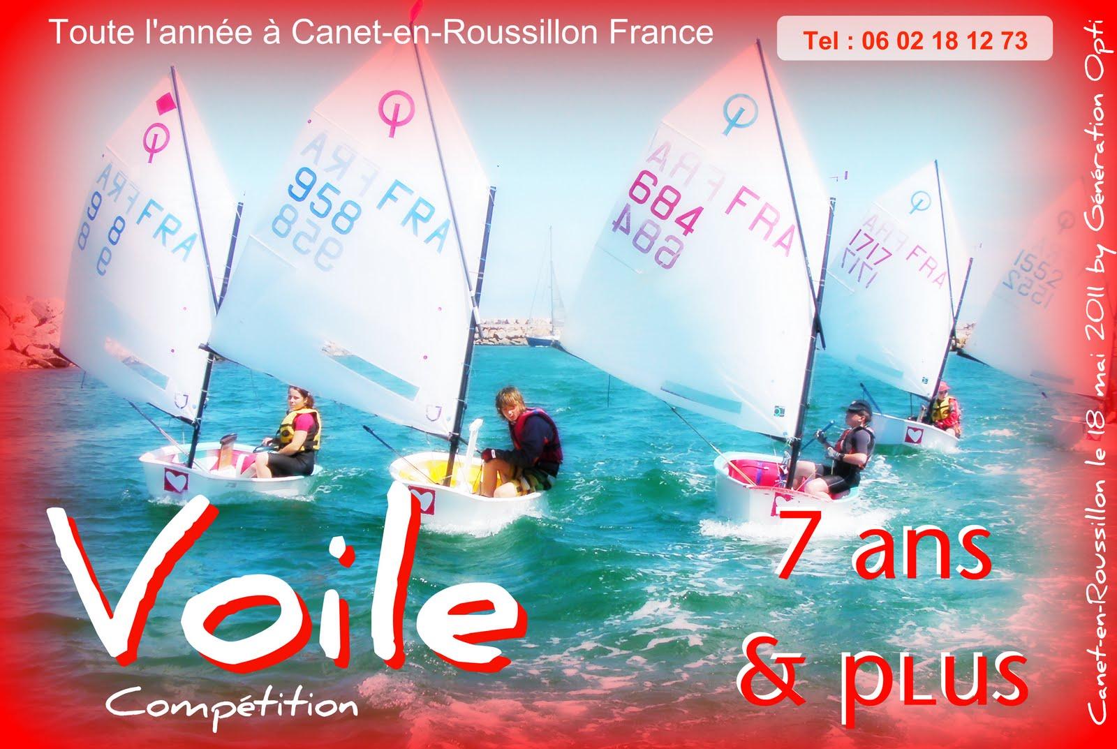 voile optimist 66 generation-opti Canet-en-Roussillon Perpignan