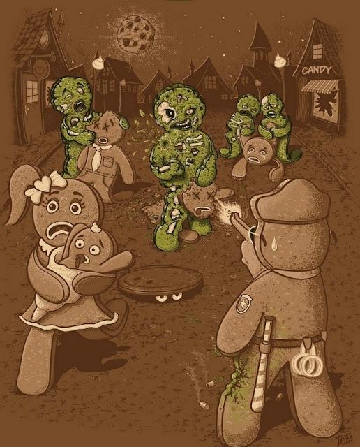 Zombie Gingerbread Cartoon