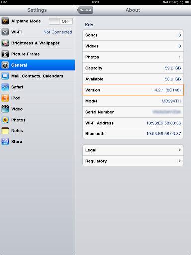 เทคนิคการ Jailbreak iPad iOS version 4.2.1 ด้วย greenpois0n Ipad001