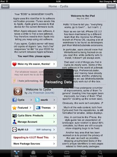 เทคนิคการ Jailbreak iPad iOS version 4.2.1 ด้วย greenpois0n Ipad030