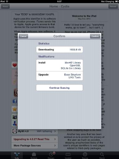 เทคนิคการ Jailbreak iPad iOS version 4.2.1 ด้วย greenpois0n Ipad032