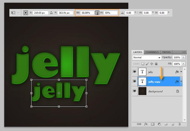 เทคนิคการสร้างตัวอักษรแบบ Plastic Jelly Pj11