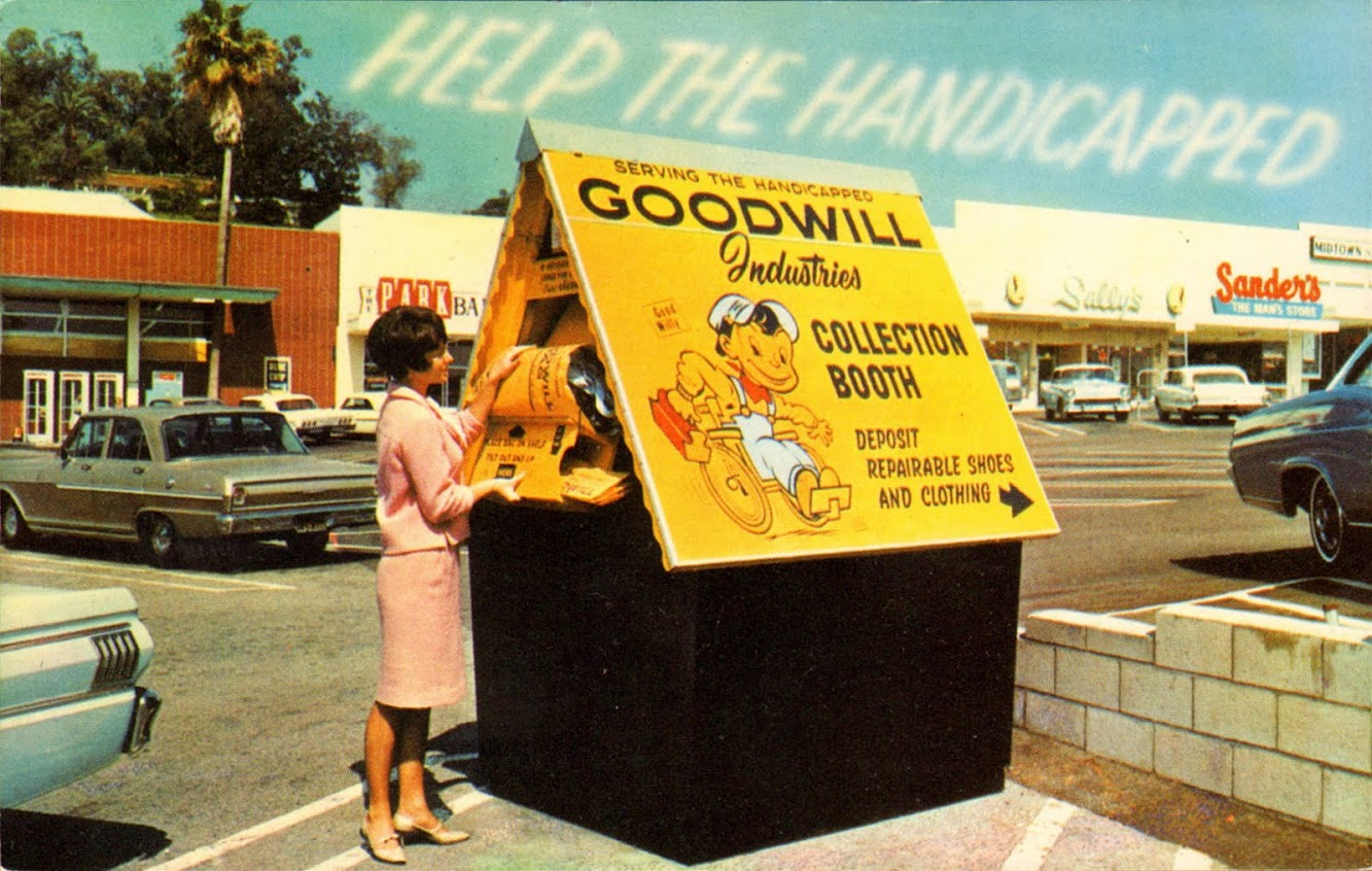 Goodwill Collection Booth, 1960s