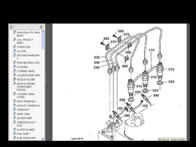 KUBOTA B1550 B1550 E D HSTE TRACTOR PARTS MANUALs B1550D B1550E – Kubota L4310 Wiring Diagram