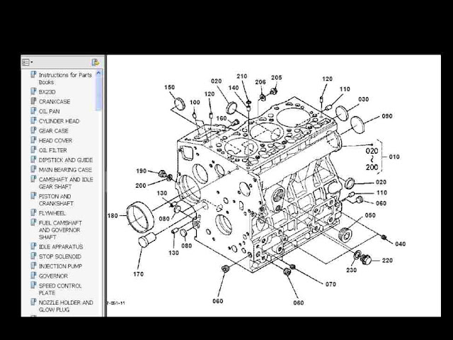 KubBX23pdf kubota bx22 bx23 bx24 parts manual set for bx 22 23 24 for sale kubota bx23 wiring diagram at fashall.co