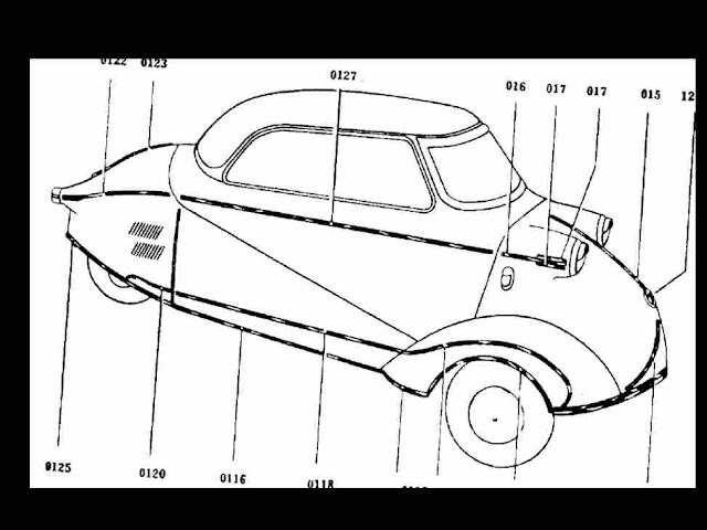 messerschmitt kr200 kr201 kr 200 201 parts manuals for sale