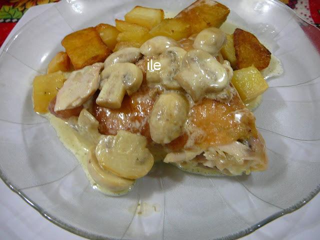pollo al horno con crema