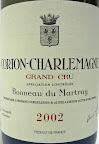 Corton-Charlemagne 2002 di Bonneau du Martray