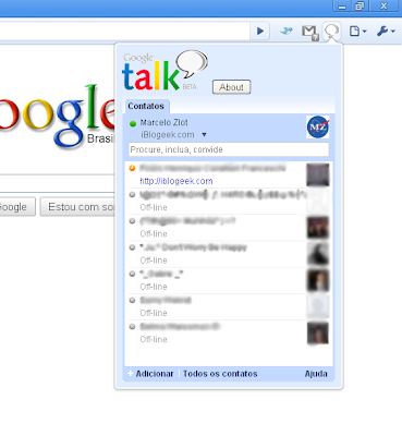 Open Google Talk As Pop-up Window In Chrome With Gtalk