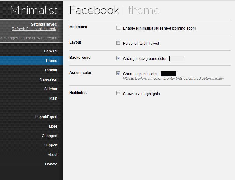 Customize How Facebook Looks In Chrome With Minimalistic For