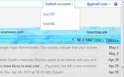Switch From One Gooogle Account To Another With Account Switcher for Google Gmail