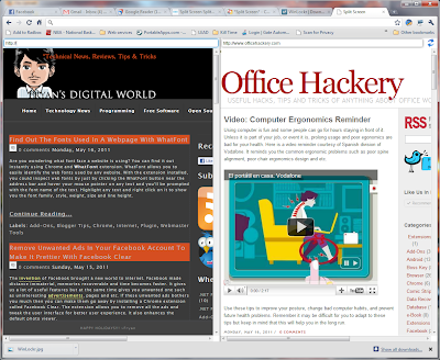 View Two Web Pages At The Same Chrome Tab With Split Screen Extension