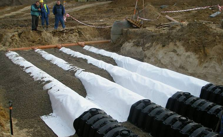 Трубы покрытые геотекстилем