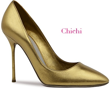 Chichi Gold Pumps Shoe