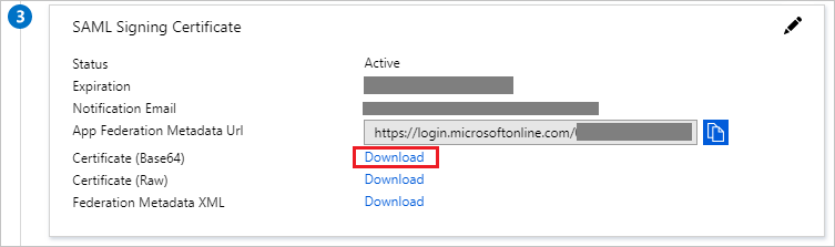 The Certificate download link