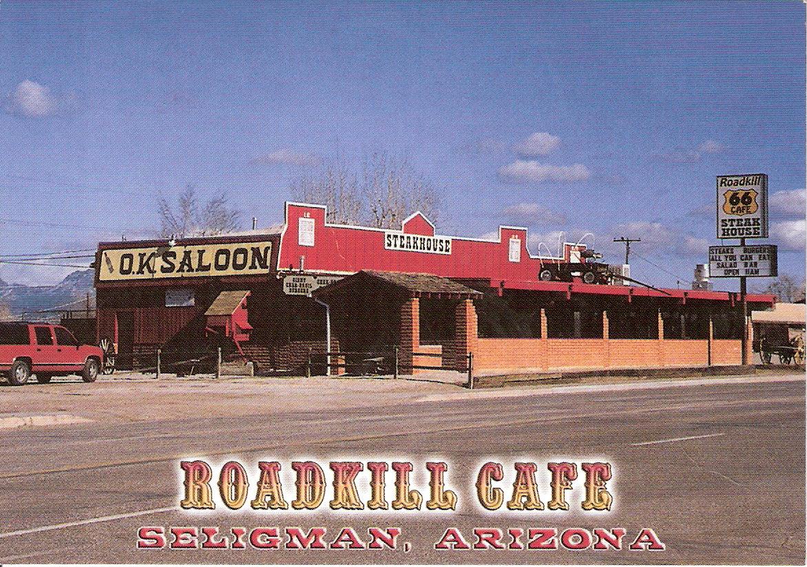 Roadkill Cafe Menu Arizona