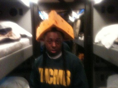 Foto do Lil Wayne no torneio de Super Bowl