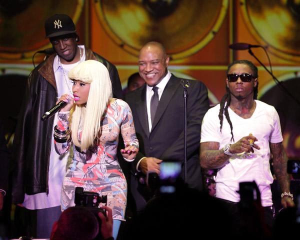 Foto do Lil Wayne & Nicki Minaj na festa