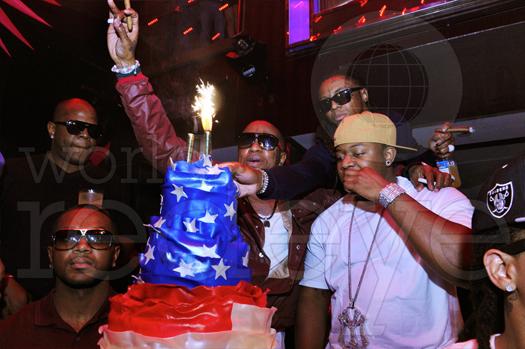 Lil Wayne, Mack Maine & Birdman comemorando seu aniversário