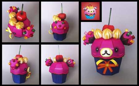 Korilakkuma Happy Cupcake Papercraft