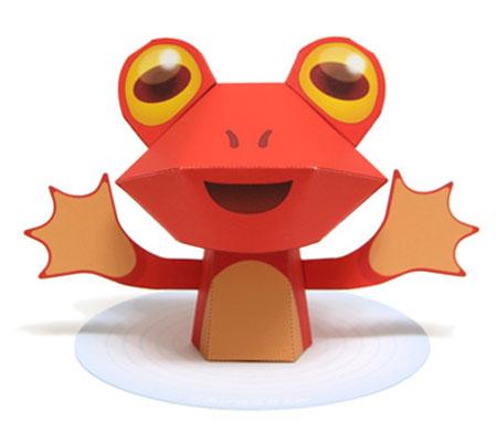 Japanese Restoration Frog Papercraft Nihon Yomigaeru