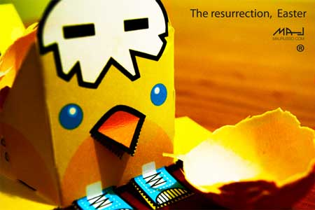 The Resurrection Easter Paper Toy