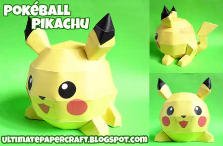 Pokeball Pikachu Papercraft