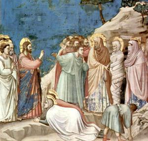 Giotto di Bondone (1305), Resurrección de Lázaro